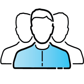 Human resources and staffing icon.