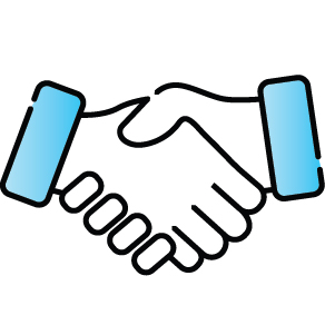 Shaking hands icon.